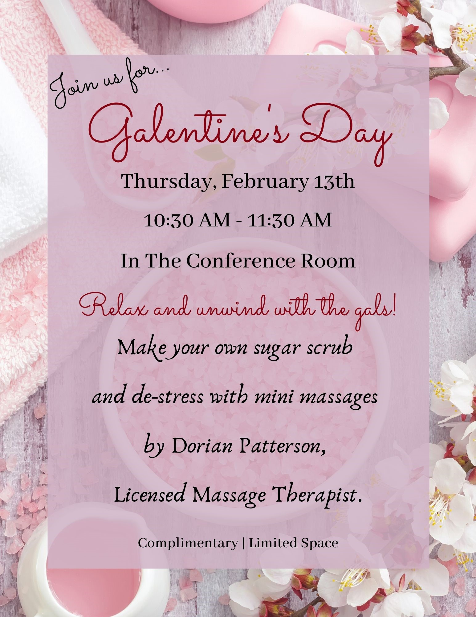 Galentine's Day @ The Reserve Club Conference Room