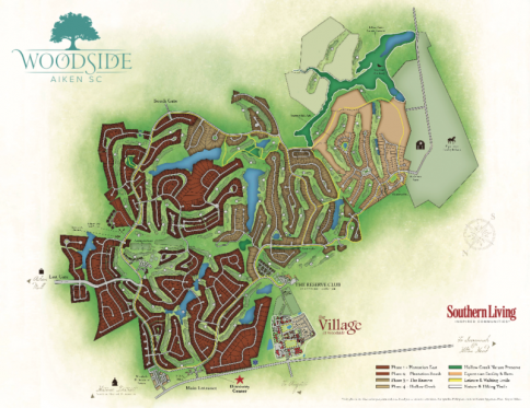 Woodside Communities map