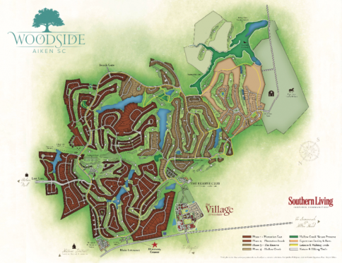 Woodside Communities map
